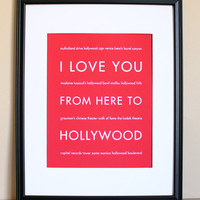 Hollywood Art Print, 8x10 on Luulla
