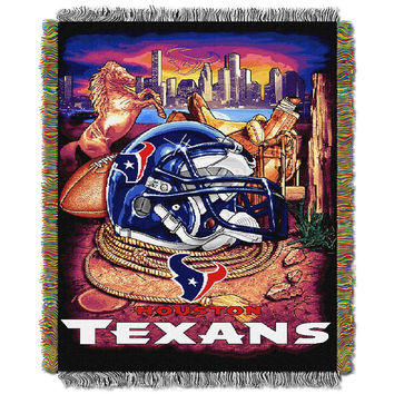 Houston Texans NFL Woven Tapestry Throw (Home Field Advantage) (48x60)