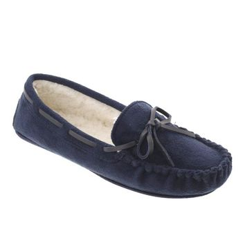 Erin-01 Lined Moccasin Slipper