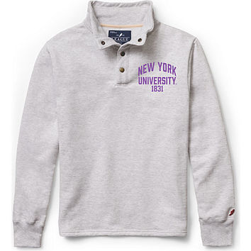 New York University Fleeve Snap Button Pullover Sweatshirt