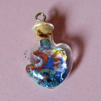 Ship in a Bottle Alice in Wonderland Mad Hatter and Alice Hattice WCMI Tiny Heart Charm for iPhone, Samsung, Nintendo, PSP, PS Vita or iPod