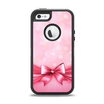 The Magical Pink Bow Apple iPhone 5-5s Otterbox Defender Case Skin Set
