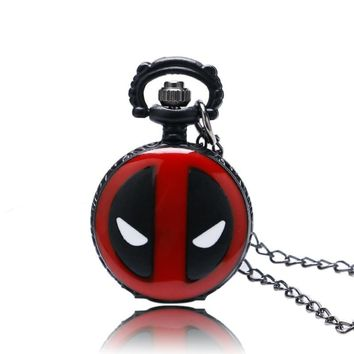 Deadpool Dead pool Taco Fashion  Cute Size Mini Pocket Quartz Watches for Children Men Boy Watch Stylish Chic Necklace Pendnat with Gift Bag AT_70_6