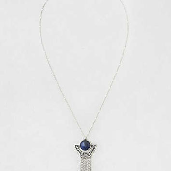 AEO Lapis Chain Waterfall Pendant Necklace , Silver