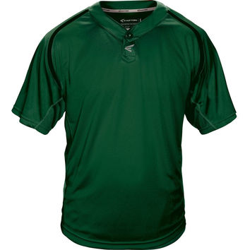 Easton M7 Homeplate Two-Button Baseball Jersey - Green Black