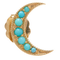Andrea Fohrman Gold Turquoise Crescent Moon Stud Earring | Accessories | Liberty.co.uk