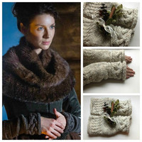 Outlander Inspired Claire's Fingerless Gloves or Hand and Wrist Warmers