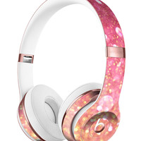 Glowing Pink and Gold Orbs of Light Full-Body Skin Kit for the Beats by Dre Solo 3 Wireless Headphones