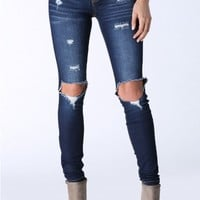 No Rules Distressed Skinny Jeans