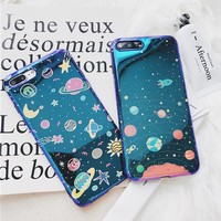 Universe Series Phone Case For iPhone 6 6S 7 8 Plus X Cool Blu-Ray Cover Cute Planet Moon Star Cases