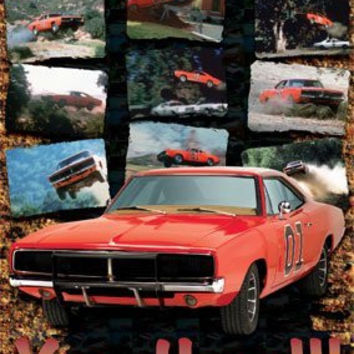THE DUKES OF HAZZARD POSTER - AMAZING CAR ACTION SHOTS