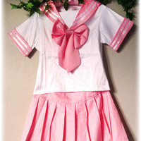 Strawberry Skies — Sailor Uniform - Pink
