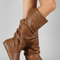 Soda Zuluu-S Slouchy Knee High Flat Boot