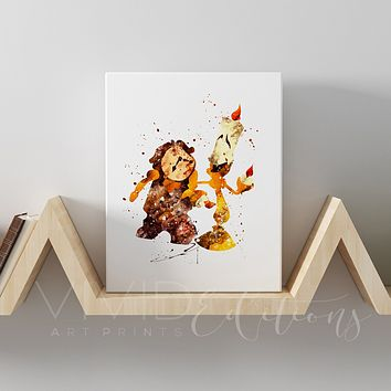 Lumiere & Cogsworth, Beauty and the Beast Gallery Wrapped Canvas