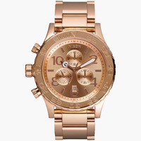 Nixon 42-20 Chrono Watch Rose Gold One Size For Men 25941462101