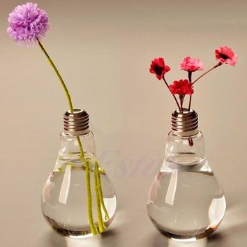 ac NOOW2 E74 New Stand Bulb Glass Plant Flower Vase Hydroponic Container Pot Home Decoration 100ML