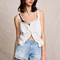 Vintage White Scoopneck Cami - Urban Outfitters