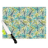 "Julia Grifol ""Tropical Leaves"" Cutting Board"