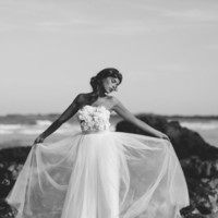 strapless lace wedding dress with handmade by Graceloveslace