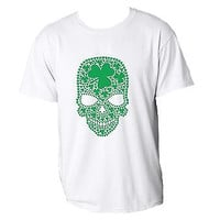 Green Skull Shamrock Saint Patrick's Day T-Shirt