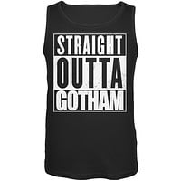 Straight Outta Gotham Black Adult Tank Top