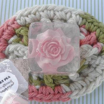 Rose Decorative Personalized Glycerin Soap Favors Set of 24