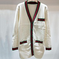 Gucci Women Fashion Casual Knitwear Cardigan Jacket Coat