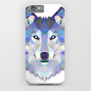 Colorful Wolf iPhone & iPod Case by Smyrna