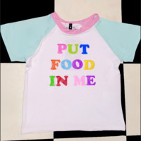 SWEET LORD O'MIGHTY! PUT FOOD IN ME RAGLAN