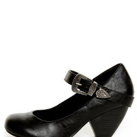C Label Chuck 2 Black Mary Jane Goes West Heels - $38.00