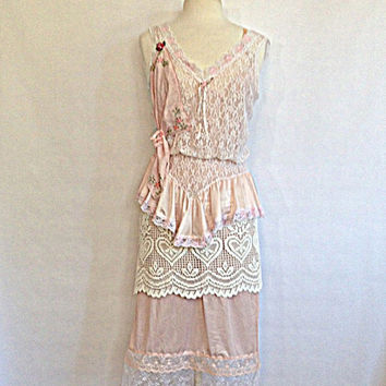 vintage s slip dress upcycled from