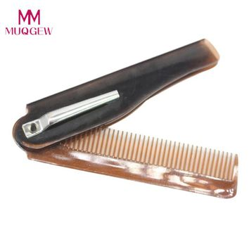 2017 New Hairdressing Beauty Folding Beard And Hair Comb Beauty Tools For Men  Portable Folding Small Comb Drop Shipping