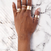 The Small Things Ring Set - Gold