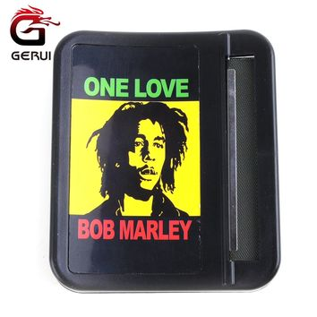 GERUI 1PC Automatic Cigarette Tobacco Roller Rolling Machine Box Case Rolling Machine For Suit 78mm Papers Bob Marley Style