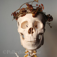 Spring, Nature, Boho, Hippie, Woodland, Skull, Fine Art Portrait