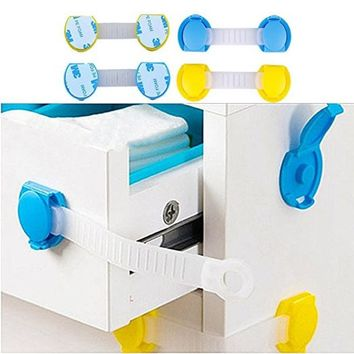10pcs/lot Cabinet Door Drawers Refrigerator Toilet Lengthened Bendy Safety Plastic Locks for Kids Protection from children #9031