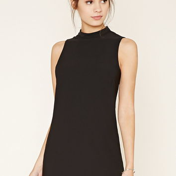 High-Neck Shift Dress