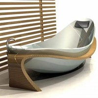 Bath tub design inspired by the natural form of the human body | Freshome