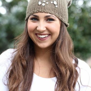 Ombre Different Scattered Stone Beanie