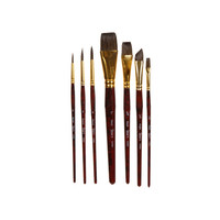 DARICE Studio 71 Natural Hair Brush Set, 7 Pieces