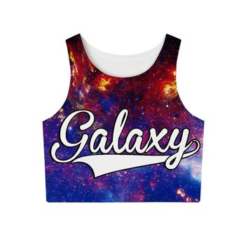 Galaxy All Over Print Women Tank Top Crop Top