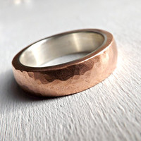 mens ring copper band, copper wedding ring, mens wedding band, cool mens ring rustic steampunk ring 5mm to 7mm, copper anniversary gift