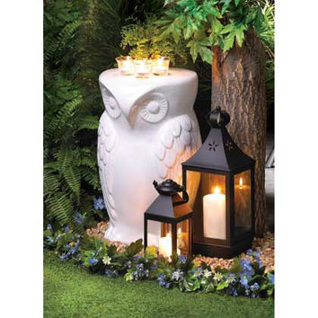 Owl Garden or Home Accent Table/Seating Option