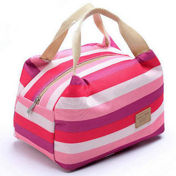 women bags lunch bag cooler insulated picnic bag kid oxford canvas bags women thermal insulation bolsa termica tote D10-74