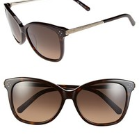 Women's Chloe 'Boxwood' 55mm Crystal Retro Sunglasses