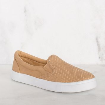 Second Nature Slip-On Sneakers - Camel