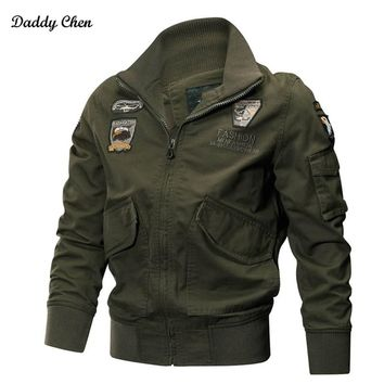 Winter military jackets men coat Pilot bomber jacket Spring Slim windbreaker Air Force Cargo tactical army track male jacket 4XL