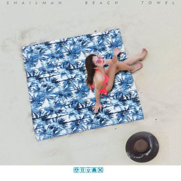 Brand Compact Beach Towel Quick Drying Summer Vocation Yoga Towel Printed Surfing Travel Towel Swimming Microfiber Towel