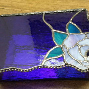 Colbalt Blue Stained Glass Beveled Jewelry Box, Specialty Jewelry Box, Keepsake Box, Unique and Special..A Gorgeous Gift!