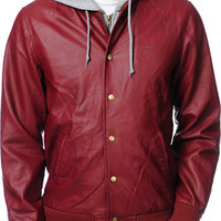 Obey Varsity Legend Burgundy Hooded Jacket at Zumiez : PDP
